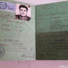Documentos antiguos: CARTILLA ANTIGUA DE RESIDENTE AÑO 1963. Lote 94622848
