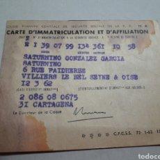 Documentos antiguos: CARTILLA DE SEGURIDAD SOCIAL AÑO 1962. Lote 94623348