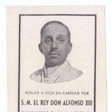 Documentos antiguos - RECORDATORIO DE LA MUERTE DEL REY ALFONSO XIII. 1941 - 94757267