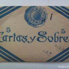 Documentos antiguos: SOBRE ENVOLTORIO DE MATERIAL DE ESCRITURA ( SOBRES Y CARTAS ) MARCA PAPEL SUPERIOR. AÑOS 40. Lote 95031715