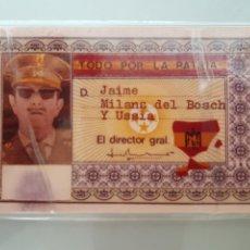 Documentos antiguos: DNI JAIME MILANS DEL BOSCH FALSO. Lote 95065884