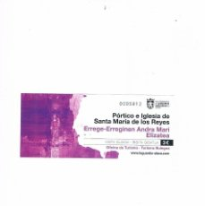 Documentos antiguos: ENTRADA PORTICO E IGLESIA DE SANTA MARIA DE LOS REYES AYUNTAMIENTO LAGUARDIA. Lote 95077959