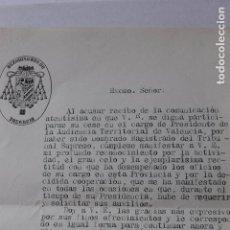 Documentos antiguos: ARZOBISPO DE VALENCIA, PRUDENCIO MELO 1929. Lote 95111579