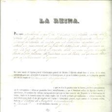 Documentos antiguos: 289.- DOCUMENTO REAL-YO LAREINA- EMPLEO DE SUBTENIENTE DE INFANTERIA-DADO EN EL PALACIO DE ARANJUEZ. Lote 95135747