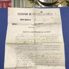Documentos antiguos: CURIOSO DOCUMENTO - ELECCION DE DIPUTADOS A CORTES DE MURCIA EN LA REPUBLICA - 1933. Lote 95216339