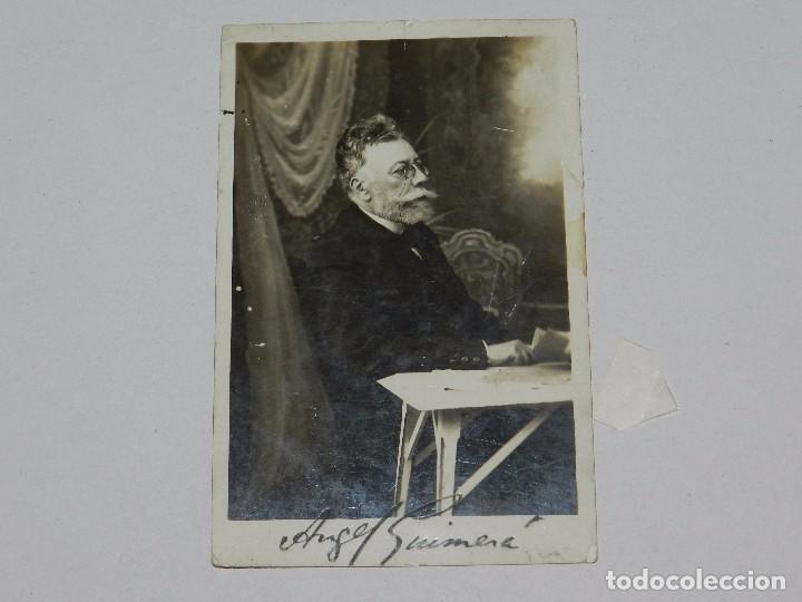 (M) AUTOGRAFO ORIGINAL DE ANGEL GUIMARA , 14 X 9 CM, SEÑALES DE USO (Coleccionismo - Documentos - Otros documentos)