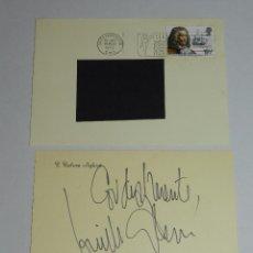 Documentos antiguos: (M) AUTOGRAFO ORIGINAL DE GUILLERMO CABRERA INFANTE , ESCRITOR Y GUIONISTA CUBANO. Lote 95307363