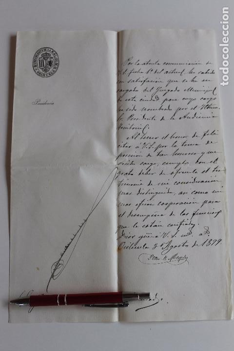 AYUNTAMIENTO DE ORIHUELA, PRESIDENCIA, 1899 FIRMA ALCALDE (Coleccionismo - Documentos - Otros documentos)