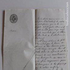 Documentos antiguos: AYUNTAMIENTO DE ORIHUELA, PRESIDENCIA, 1899 FIRMA ALCALDE. Lote 95328031