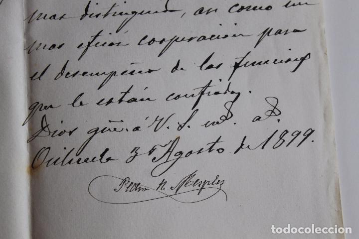 Documentos antiguos: AYUNTAMIENTO DE ORIHUELA, PRESIDENCIA, 1899 FIRMA ALCALDE - Foto 2 - 95328031