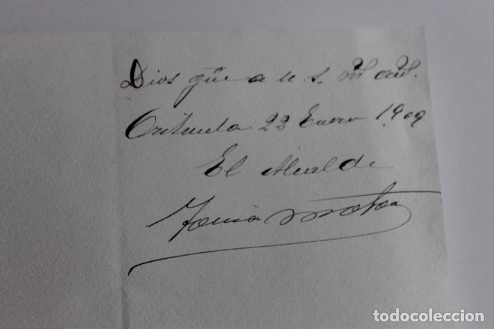 Documentos antiguos: ALCALDIA CONSTITUCIONAL DE ORIHUELA, 1909, FIRMA ALCALDE A MAGISTRADO AUDIENCIA DE JAEN, - Foto 2 - 95328179