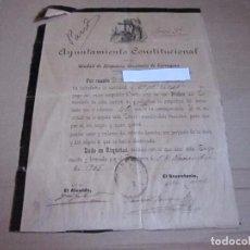Documentos antiguos: AYUNTAMIENTO CONSTITUCIONAL, 1905. Lote 95481559