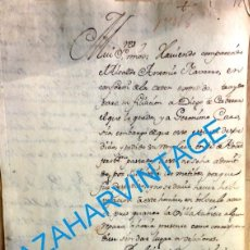 Documentos antiguos: CARMONA, SEVILLA, 1746, DOCUMENTO SOBRE UN DESERTOR, 2 HOJAS. Lote 95505439