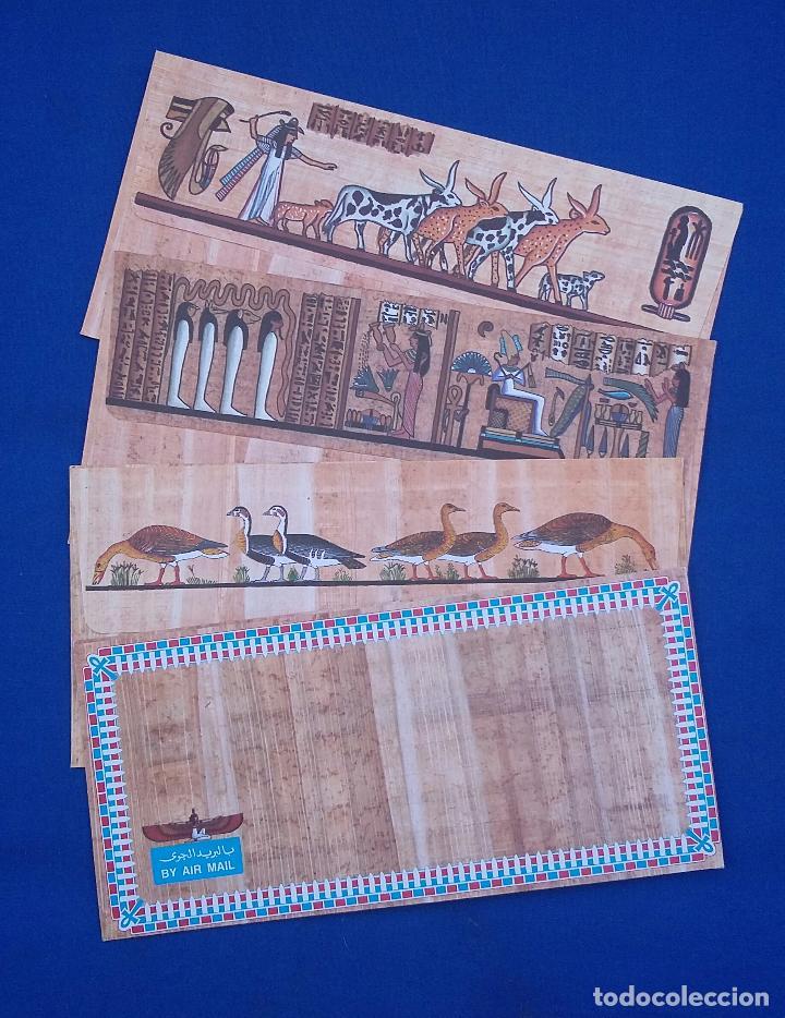 3 SOBRES POSTALES CON MOTIVOS EGIPCIOS COMPLETAMENTE NUEVOS. (Coleccionismo - Documentos - Otros documentos)