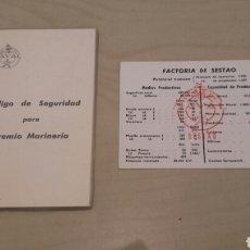 Documentos antiguos: LA NAVAL SESTAO. LOTE DE 2 DOCUMENTOS. . Lote 96148178