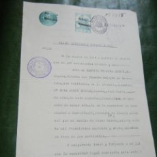 Documentos antiguos: DOCUMENTO PODER NOTARIA GABRIEL VILLALTA AMENOS, REUS 1931 - REPUBLICA ESPAÑOLA. Lote 96372119
