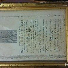 Documentos antiguos: DOCUMENTO ENMARCADO DE LA IGLESIA DE SAN LORENZO. COPIA DEL ORIGINAL.. Lote 96459103