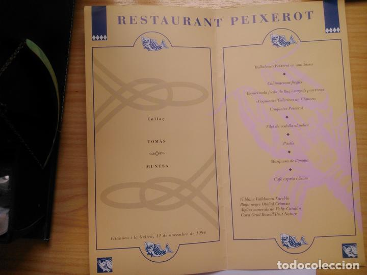 Documentos antiguos: Carta para una boda del Restaurante Peixerot - Foto 2 - 96826275
