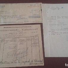 Documentos antiguos: LOTE TRES HOJAS COMERCIALES LUGO 1926. Lote 96858563