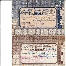 Documentos antiguos: 3 CARTILLAS RACIONAMIENTO GREMIO PANADEROS BARCELONA 1951- 1º-2º-3º TRIMESTRES.. Lote 96994367