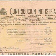 Documentos antiguos: LIBRILLA. CONTRIBUCIÓN INDUSTRIAL. 1ER. TRIMESTRE AÑO 1934. Lote 97017455