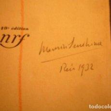 Documentos antiguos: AUTOGRAFO FECHADO DE MAURICI SERRAHIMA (1902-1979). DOS DIBUJOS DE TEMA COSTERO.. Lote 97125635