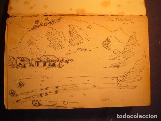Documentos antiguos: AUTOGRAFO FECHADO DE MAURICI SERRAHIMA (1902-1979). DOS DIBUJOS DE TEMA COSTERO. - Foto 4 - 97125635