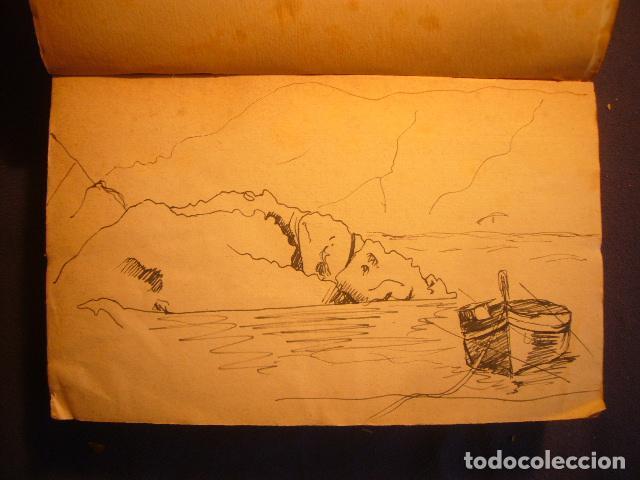 Documentos antiguos: AUTOGRAFO FECHADO DE MAURICI SERRAHIMA (1902-1979). DOS DIBUJOS DE TEMA COSTERO. - Foto 5 - 97125635