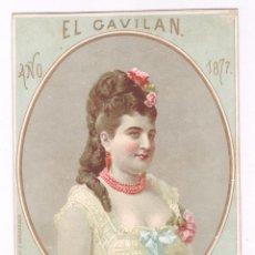 Documentos antiguos: BAILES DE TRAJES, EL GAVILÁN, BARCELONA AÑO 1877. 10X13 CM.. Lote 97269831