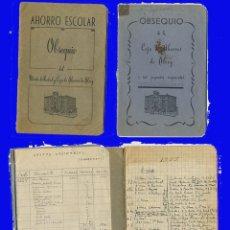 Documentos antigos: 2 ANTIGUAS LIBRETAS OBSEQUIO MONTE DE PIEDAD Y CAJA DE AHORROS DE ALCOY . Lote 97437167
