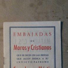 Documentos antiguos: ALCOY,EMBAJADAS.. Lote 97512307