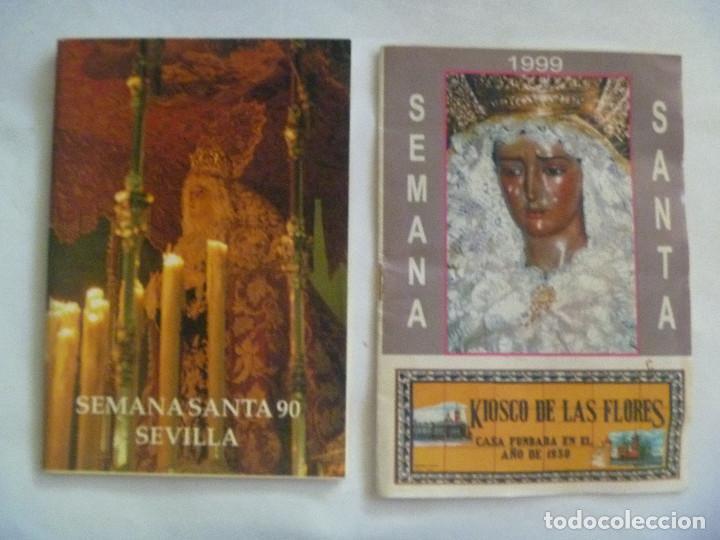 SEMANA SANTA DE SEVILLA : LOTE DE 2 PROGRAMAS , 1990 Y 1999 (Coleccionismo - Documentos - Otros documentos)