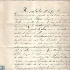 Documentos antiguos: JEREZ. VIÑA BALBAINA.ESCRITURA DE RENTA VITALICIA POR VENTA DE VIÑA. 1876. Lote 97830691