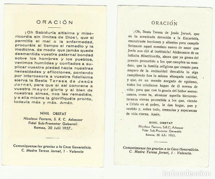 Documentos antiguos: TERESA DE JESUS JORNET E IBARS. - Foto 2 - 98016511