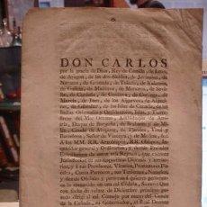Documentos antiguos: REAL DECRETO DE DON CARLOS REY - PORTAL DEL COL·LECCIONISTA . Lote 98223063