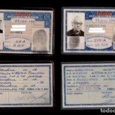 Documentos antiguos: DNI - 37.045.198 Y 37.045.279- C10-2 - PAREJA DE CARNETS DE IDENTIDAD PERTENECIENTES A UN MATRIM. Lote 98725691
