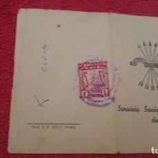 Documentos antiguos: CARTILLA - SERVICIO SOCIAL DE LA MUJER - AÑOS '40. Lote 98898559