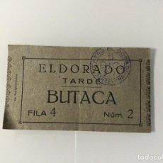 Documentos antiguos: BARCELONA ENTRADA TEATRO EL DORADO. PUBLICIDAD CONSERVAS CERVERA. VIGO. CANGAS. Lote 98949943