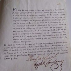 Documentos antiguos: DOCUMENTO DE 1787 DE CARTAGENA. COPIA DE ORDEN EL REY SOBRE PLANTÍO DE ÁRBOLES. CON DOS FIRMAS . Lote 99284519