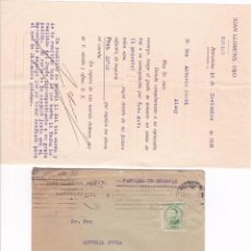 Documentos antiguos: BARCELONA - 18 NOVIEMBRE 1933 - JUAN LLORENS, HIJO / ABANICOS. Lote 99561199