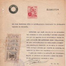 Documentos antiguos: CERTIFICADO BUENA CONDUCTA 1948 AYUNTAMIENTO DE CHINCHÓN - VIÑETAS SELLOS CHINCHÓN 1 PESETA. Lote 99647051