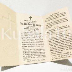 Documentos antiguos: RECUERDO NECROLOGICO MODERNISTA ··AÑO 1918 CREVILLENTE · ALICANTE. Lote 99551747