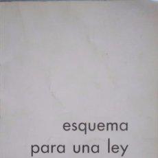 Documentos antiguos: ESQUEMA PARA UNA LEY DEL TEATRO. CORRECCIONES MANUSCRITAS DE MARIO ANTOLÍN, SUBDTOR. GRAL. DE TEATRO. Lote 99798555