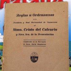 Documentos antiguos: SEMANA SANTA SEVILLA, 1943, REGLAS DE LA HERMANDAD DEL CALVARIO,. Lote 99979959