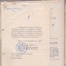 Documentos antiguos: COMPENDIO DE 28 DOCUMENTOS ·· AUTORIZACIONES · EMBAJADA DE MARRUECOS EN MADRID ·· 1958 . ALICANTE.. Lote 100089467