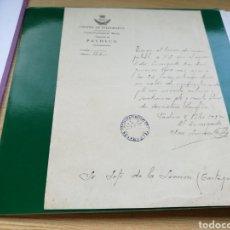 Documentos antiguos: ANTIGUO DOCUMENTO DEL CUERPO DE TELÉGRAFOS DE TORRE PACHECO MURCIA RARO 1937. Lote 100239099