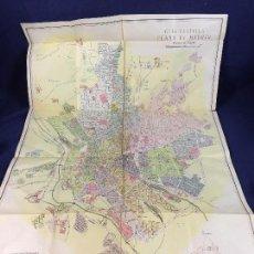 Documentos antiguos: PLANO URBANO MADRID S XX GUIA CASTILLA ESCALA 1/15000 10 DISTRITOS LITOGRAFIA COULLAUT. Lote 100488311