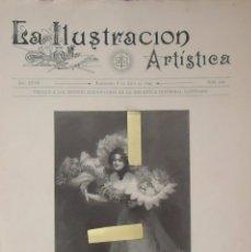 Alte Dokumente - litografia ilustracion artistica flores mayo florista flor grabado mujer vintage bellas artes 1899 - 100579543