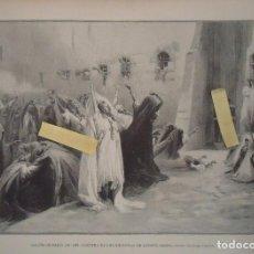 Documentos antiguos: LITOGRAFIA ILUSTRACION ARTISTICA LUXOR EGIPTO JORGE CLAIRIN GRABADO VINTAGE BELLAS ARTES 1899 PARIS. Lote 100580831