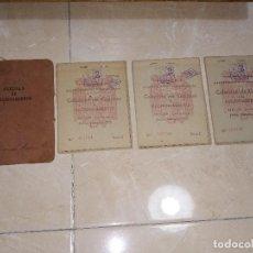 Documentos antiguos: LOTE DE 3 CARTILLAS DE RACIONAMIENTO CORRELATIVAS CON CARPETA Y CUPONES.. Lote 100752711